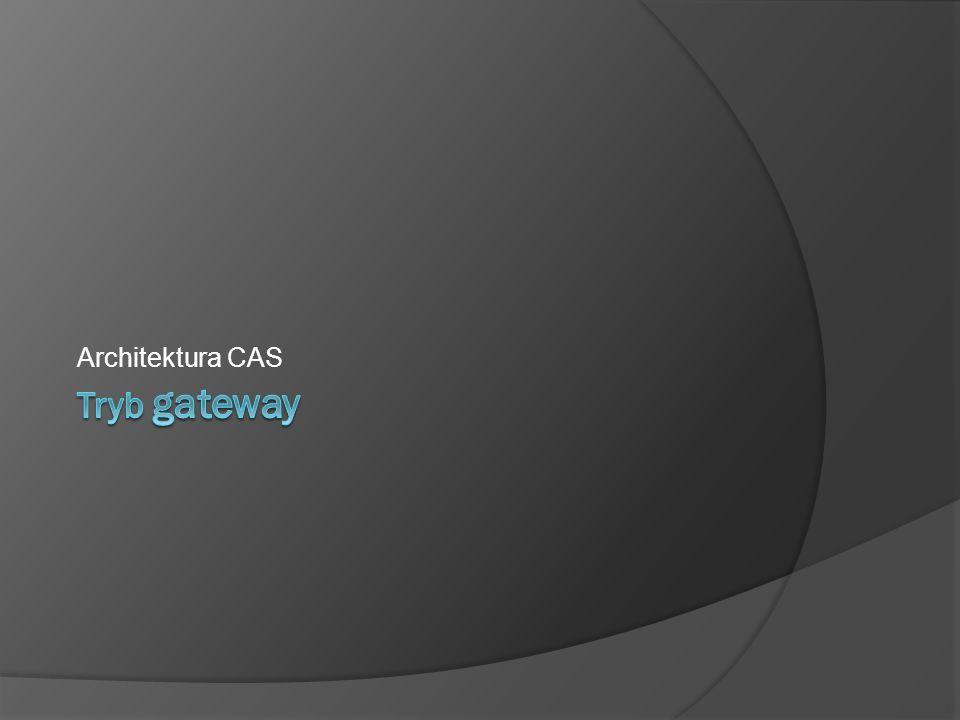 Architektura CAS Tryb gateway