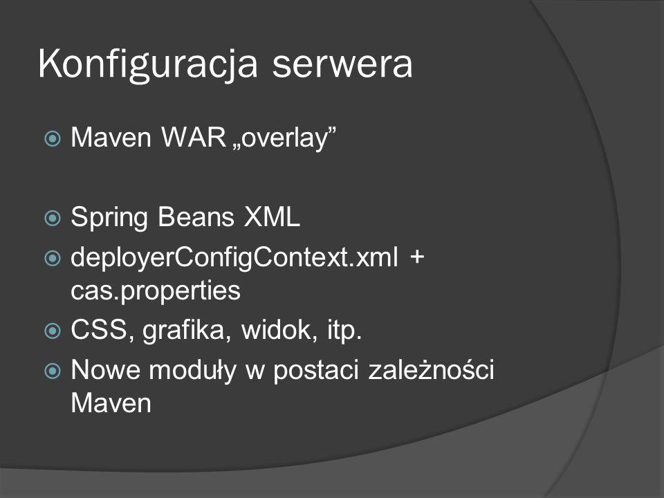 "Konfiguracja serwera Maven WAR ""overlay Spring Beans XML"