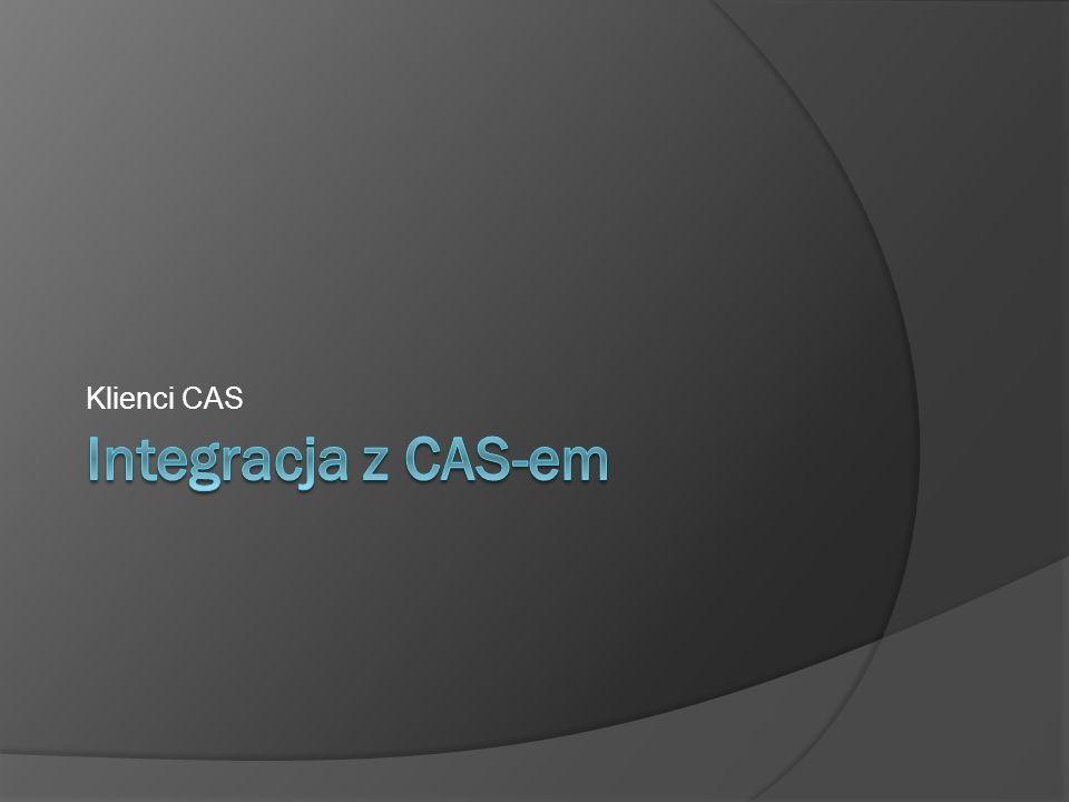 Integracja z CAS-em Klienci CAS