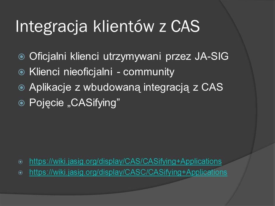 Integracja klientów z CAS