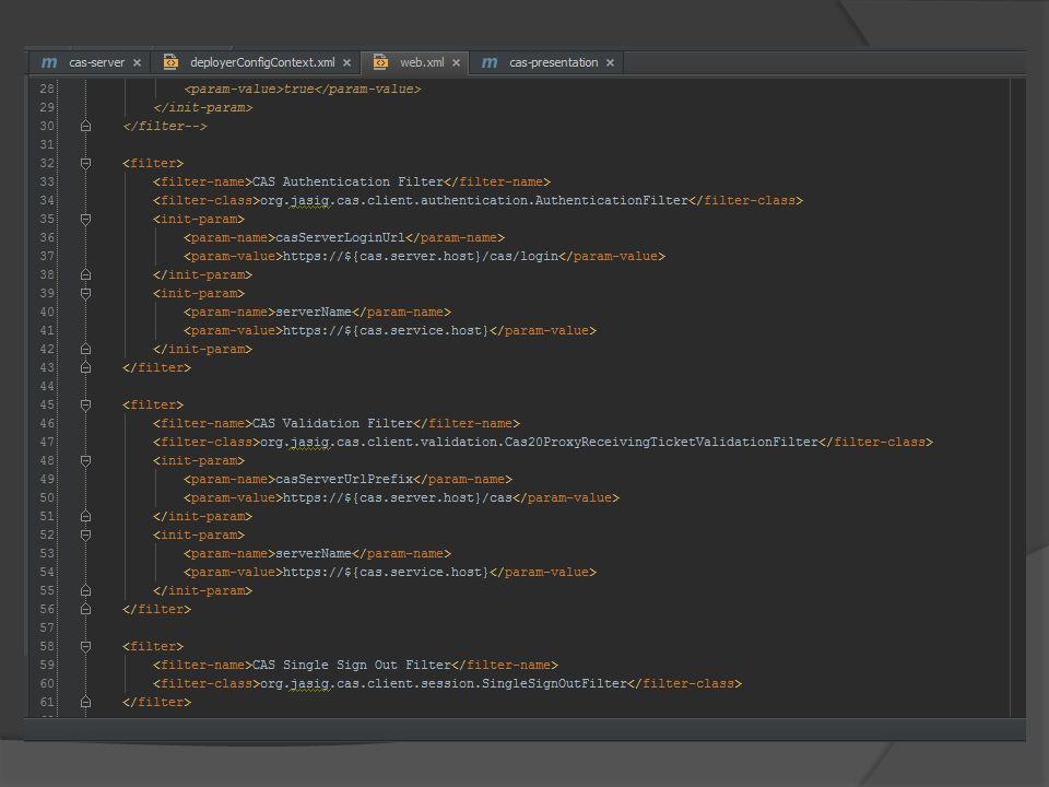Klient Java – zestaw filtrów, autoryzują i weryfikują, oraz umieszczają Principal-a w request