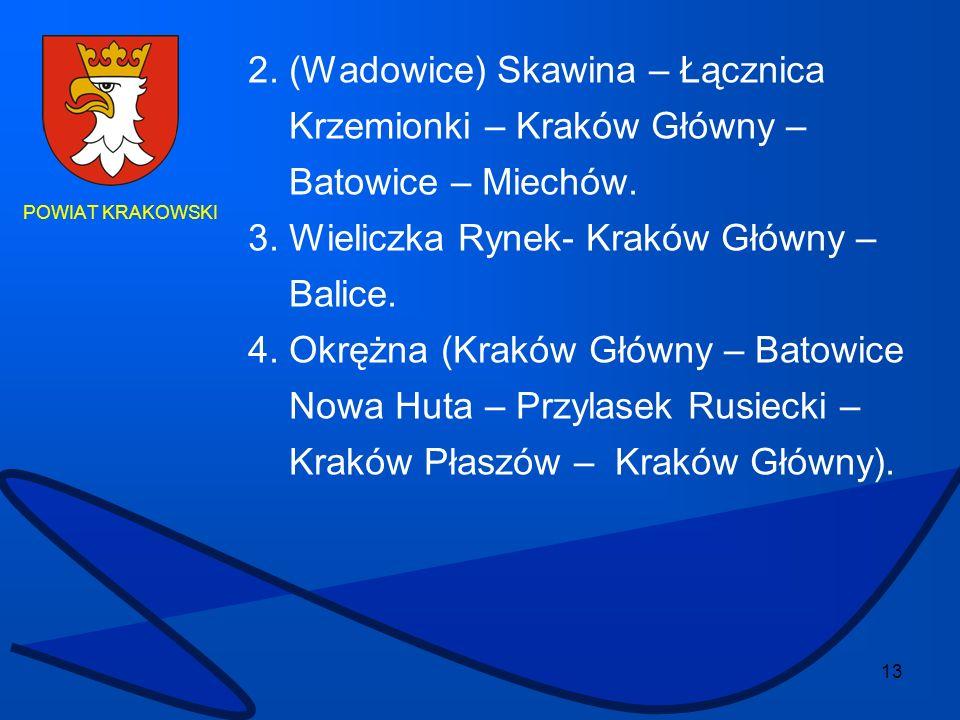 2. (Wadowice) Skawina – Łącznica Krzemionki – Kraków Główny –