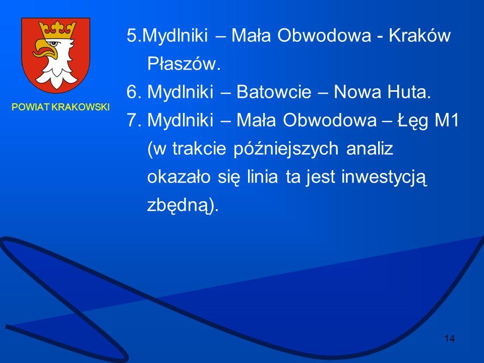 5.Mydlniki – Mała Obwodowa - Kraków Płaszów.