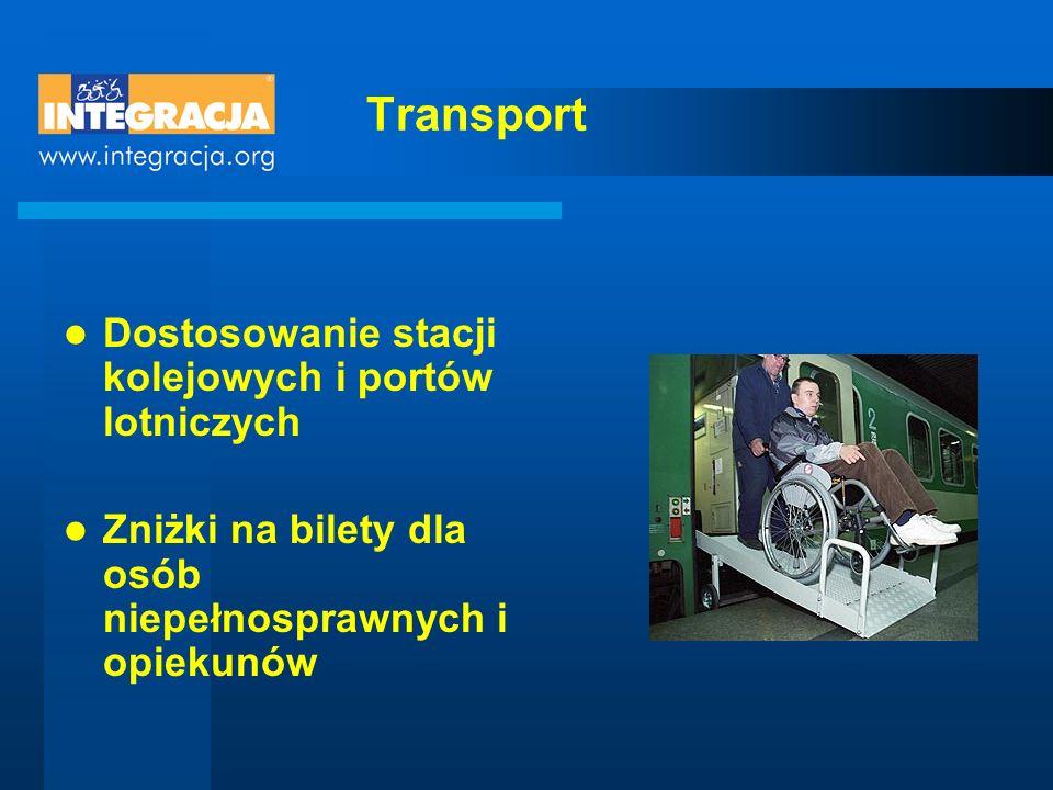 Transport Dostosowanie stacji kolejowych i portów lotniczych