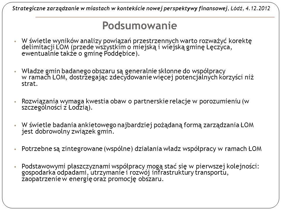 Strategiczne zarządzanie w miastach w kontekście nowej perspektywy finansowej, Łódź, 4.12.2012