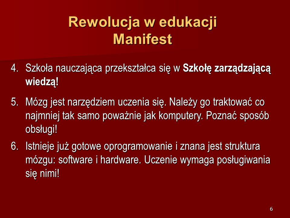 Rewolucja w edukacji Manifest