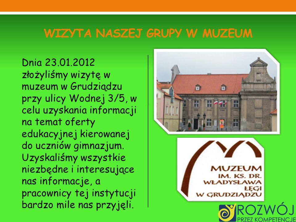 Wizyta naszej grupy w muzeum