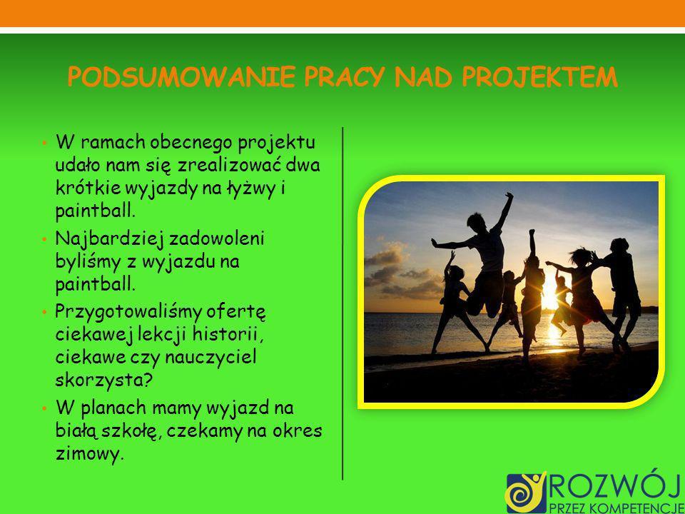 Podsumowanie pracy nad projektem