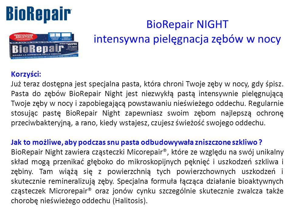 intensywna pielęgnacja zębów w nocy