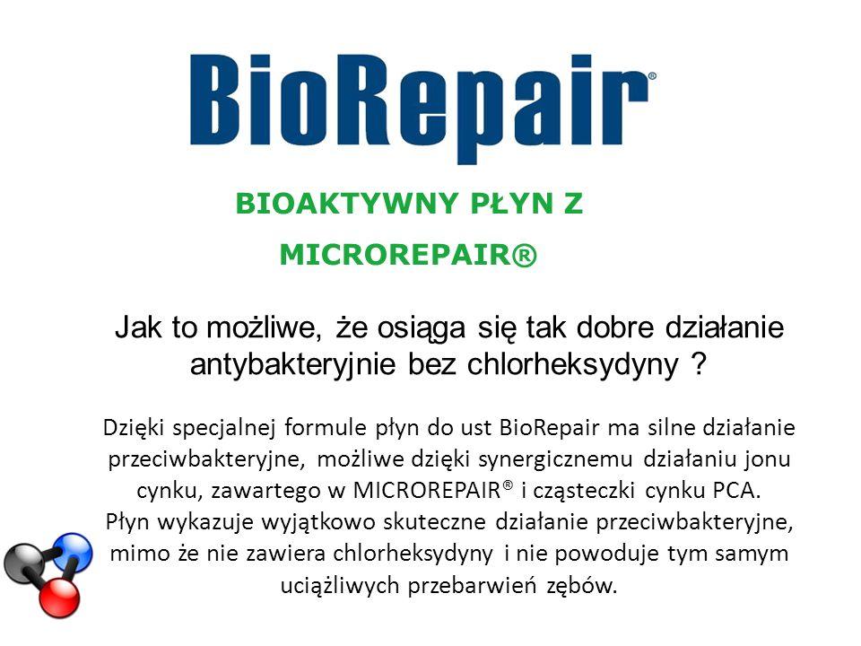 BIOAKTYWNY PŁYN Z MICROREPAIR® Jak to możliwe, że osiąga się tak dobre działanie antybakteryjnie bez chlorheksydyny