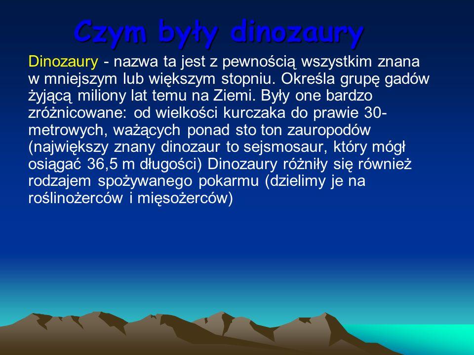 Czym były dinozaury