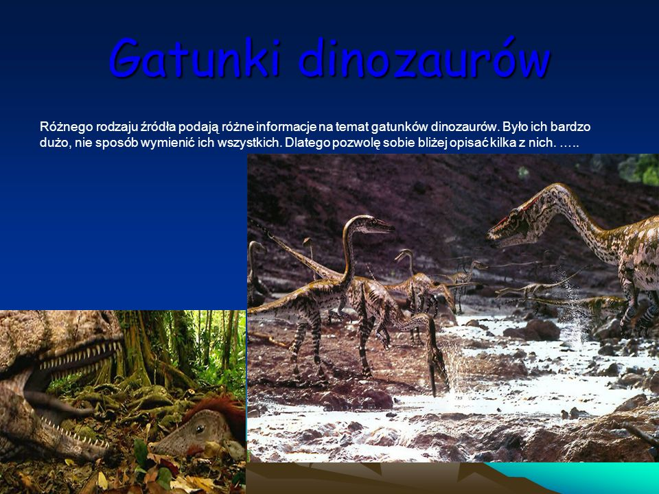 Gatunki dinozaurów