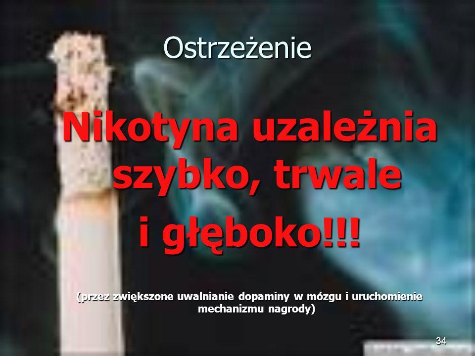 Nikotyna uzależnia szybko, trwale