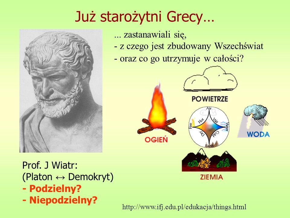 Już starożytni Grecy… ... zastanawiali się,
