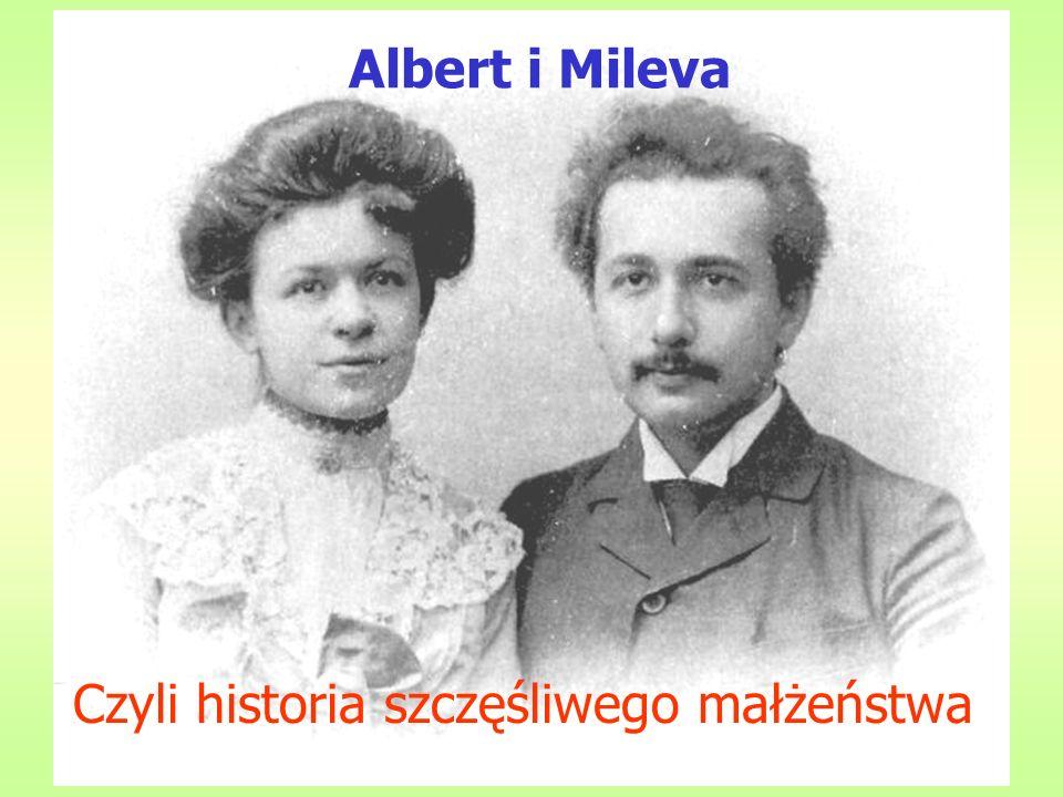 Albert i Mileva E=mc2 Czyli historia szczęśliwego małżeństwa
