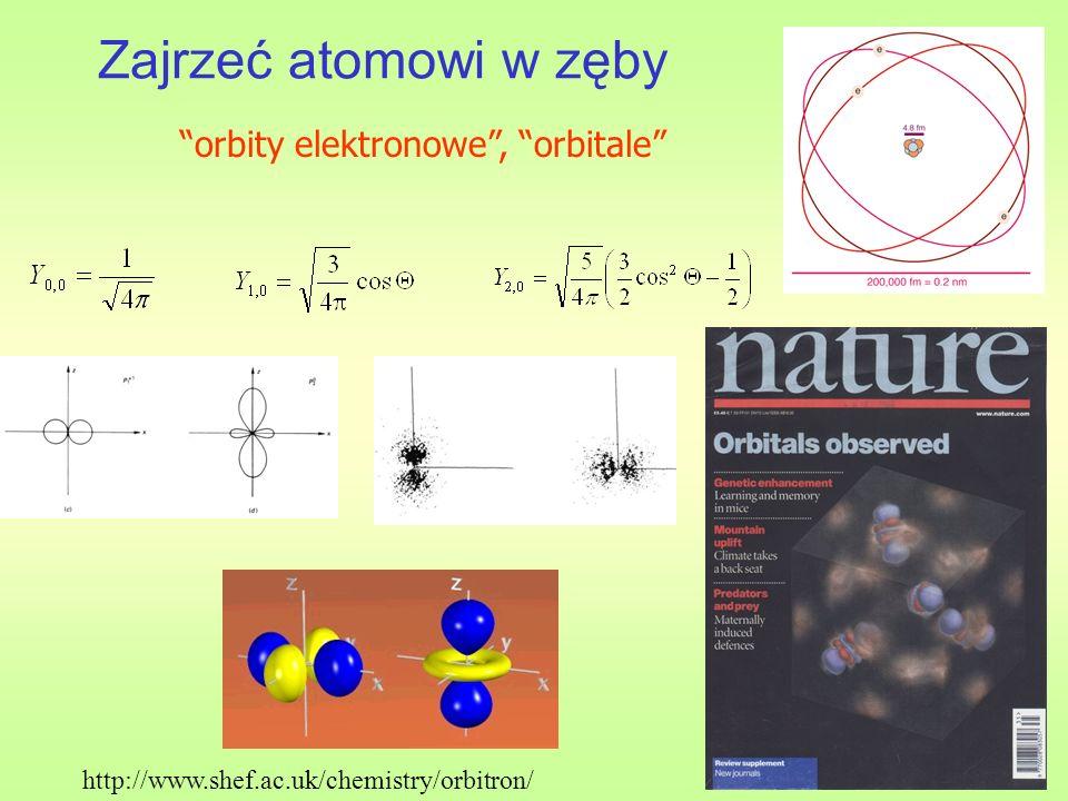 Zajrzeć atomowi w zęby orbity elektronowe , orbitale