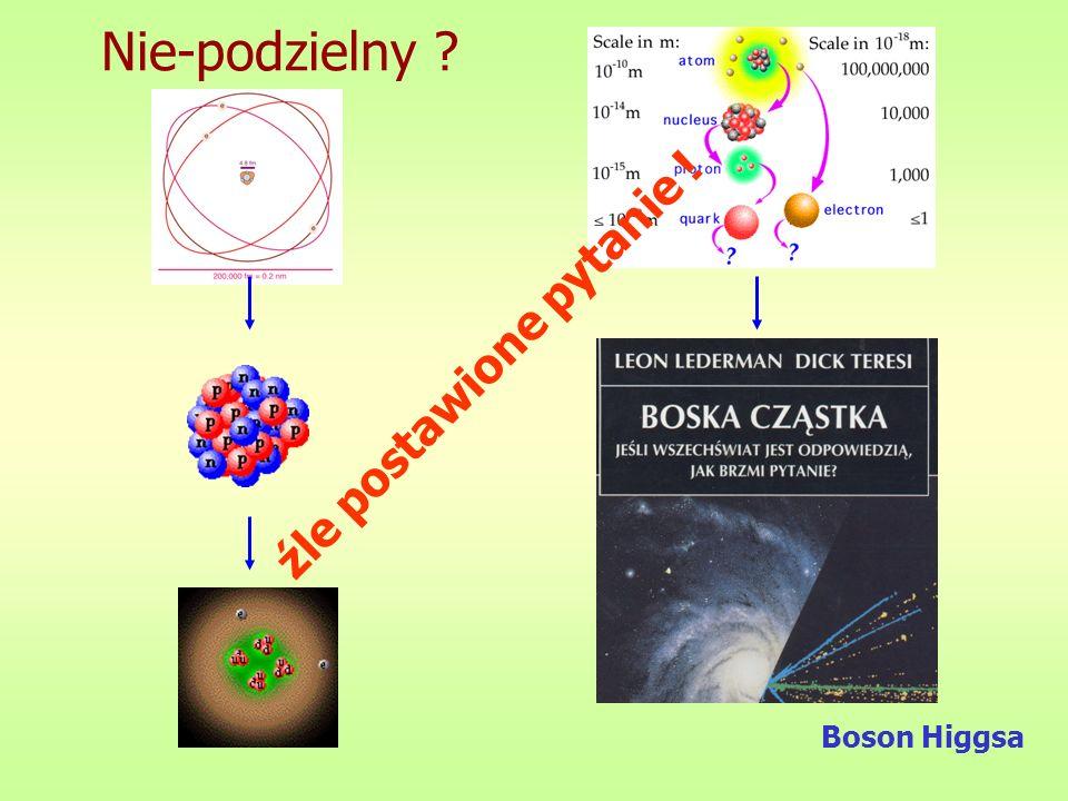 Nie-podzielny źle postawione pytanie ! Boson Higgsa