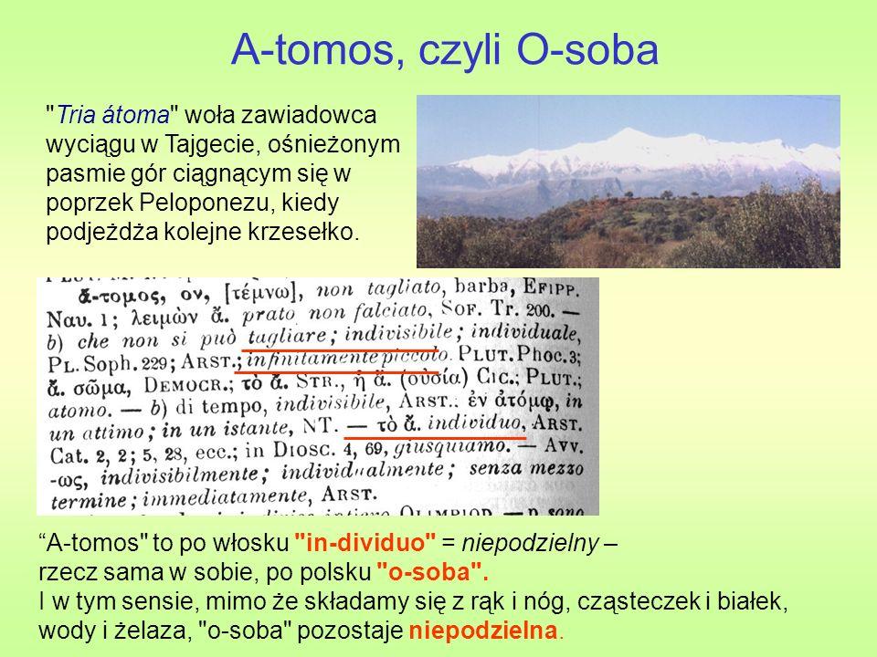 A-tomos, czyli O-soba Tria átoma woła zawiadowca