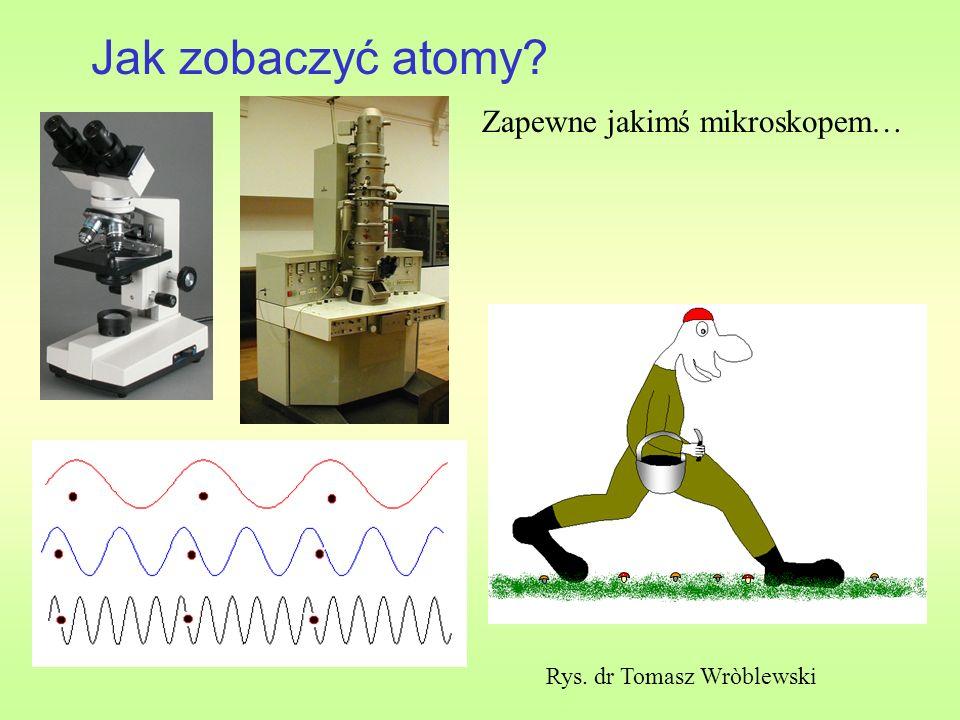 Jak zobaczyć atomy Zapewne jakimś mikroskopem…