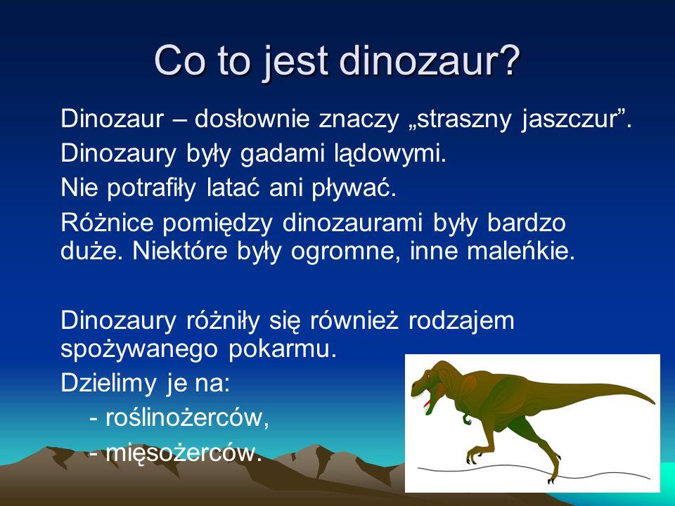Co to jest dinozaur Dinozaury były gadami lądowymi.