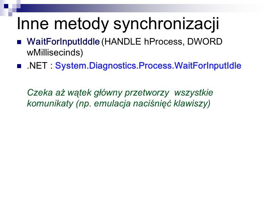 Inne metody synchronizacji