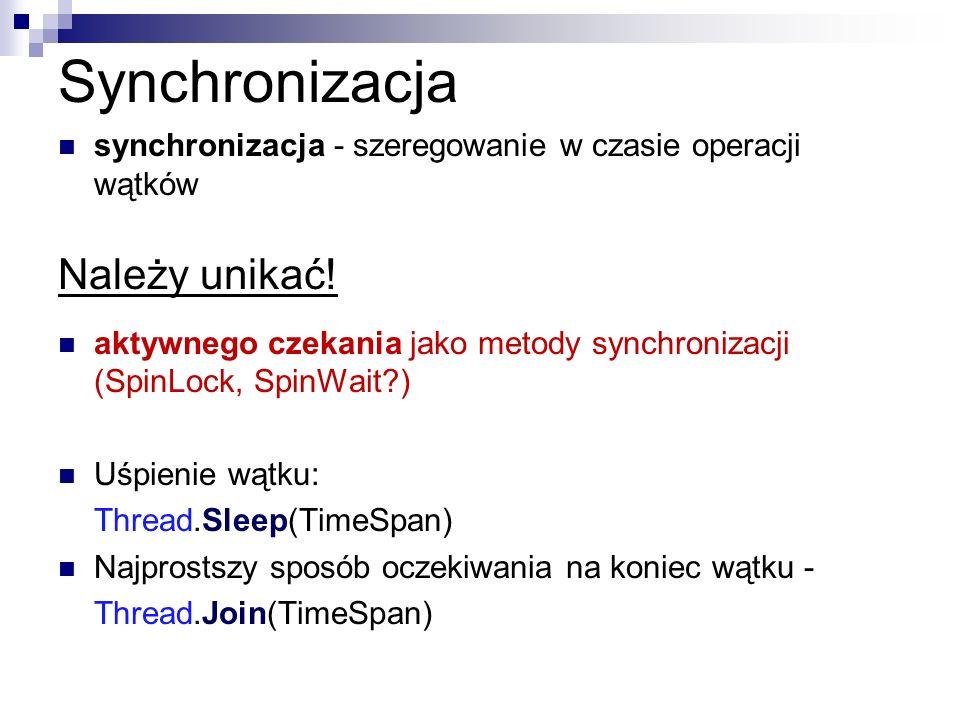 Synchronizacja Należy unikać!