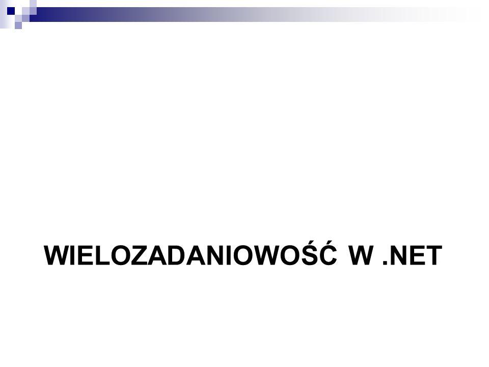 Wielozadaniowość w .NET