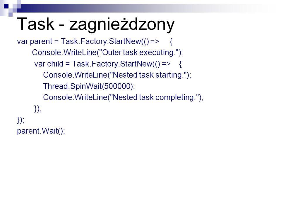 Task - zagnieżdzony