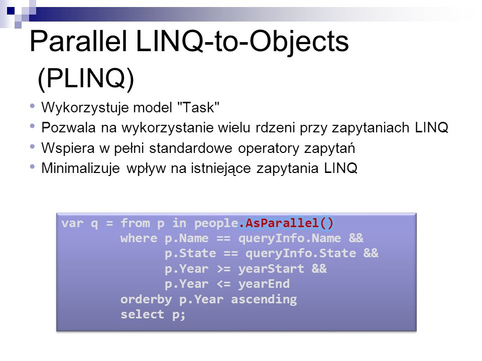 Parallel LINQ-to-Objects