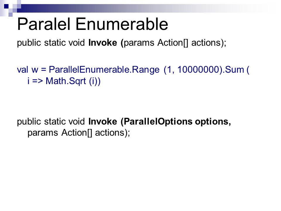 Paralel Enumerable