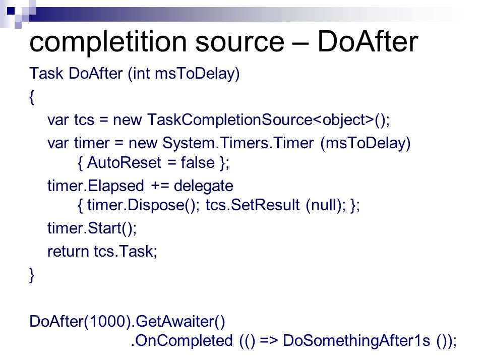 completition source – DoAfter
