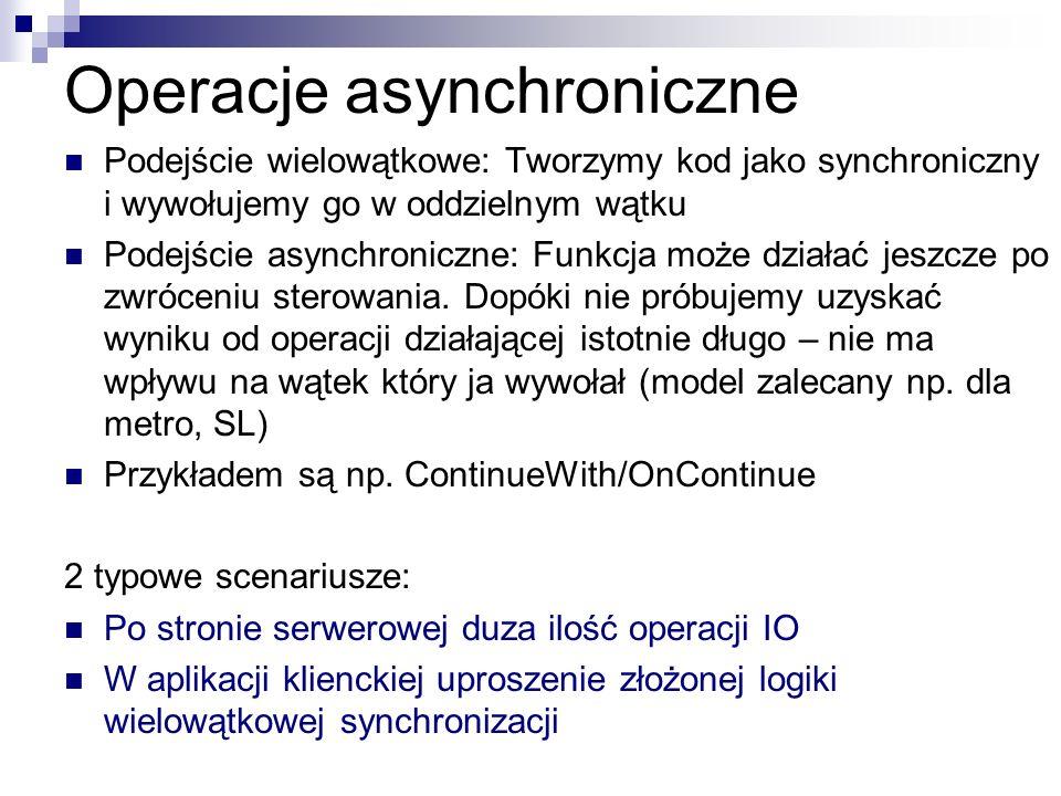 Operacje asynchroniczne