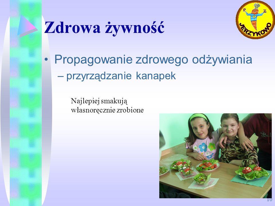 Zdrowa żywność Propagowanie zdrowego odżywiania przyrządzanie kanapek