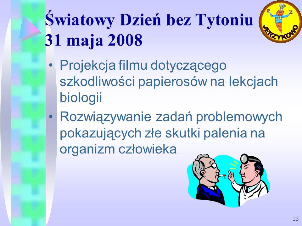 Światowy Dzień bez Tytoniu 31 maja 2008
