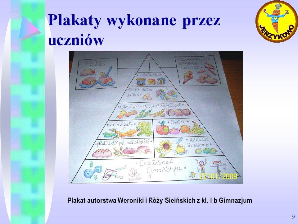 Plakaty wykonane przez uczniów