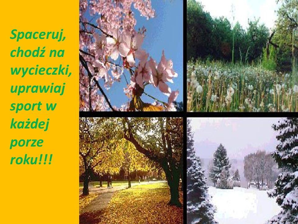 Spaceruj, chodź na wycieczki, uprawiaj sport w każdej porze roku!!!