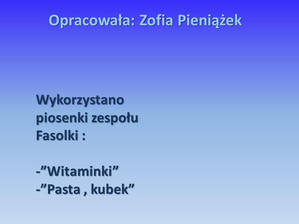 Opracowała: Zofia Pieniążek
