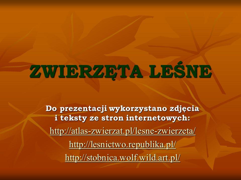 Do prezentacji wykorzystano zdjęcia i teksty ze stron internetowych: