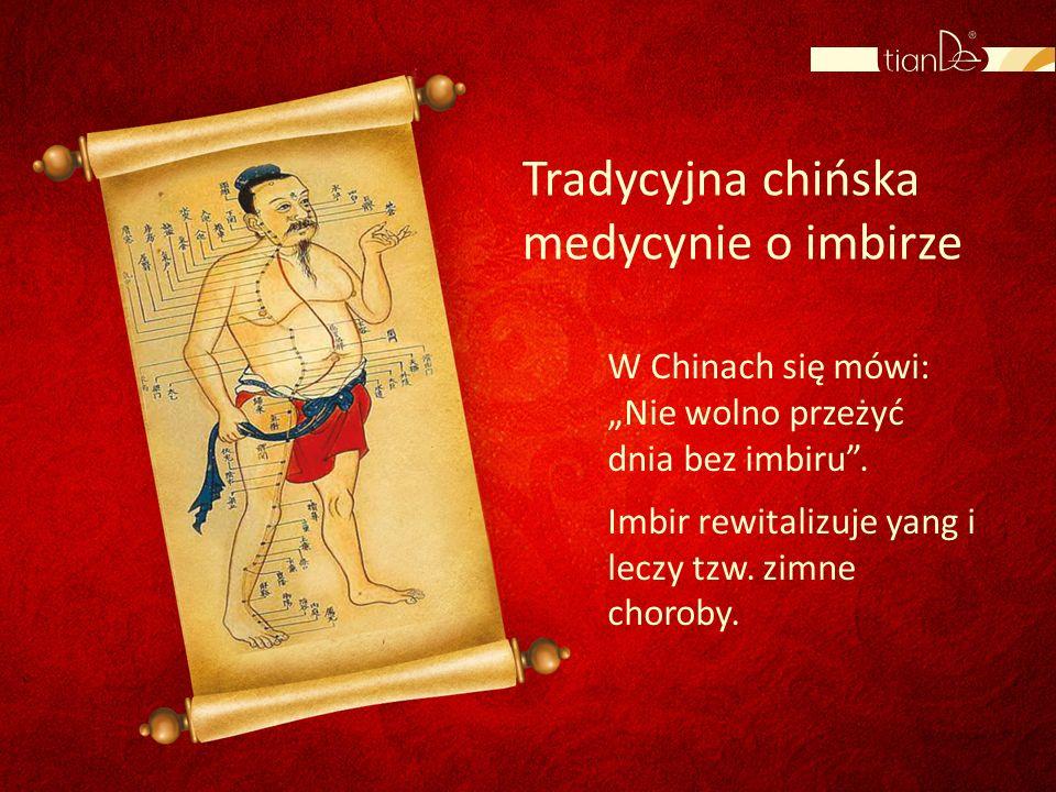 Tradycyjna chińska medycynie o imbirze