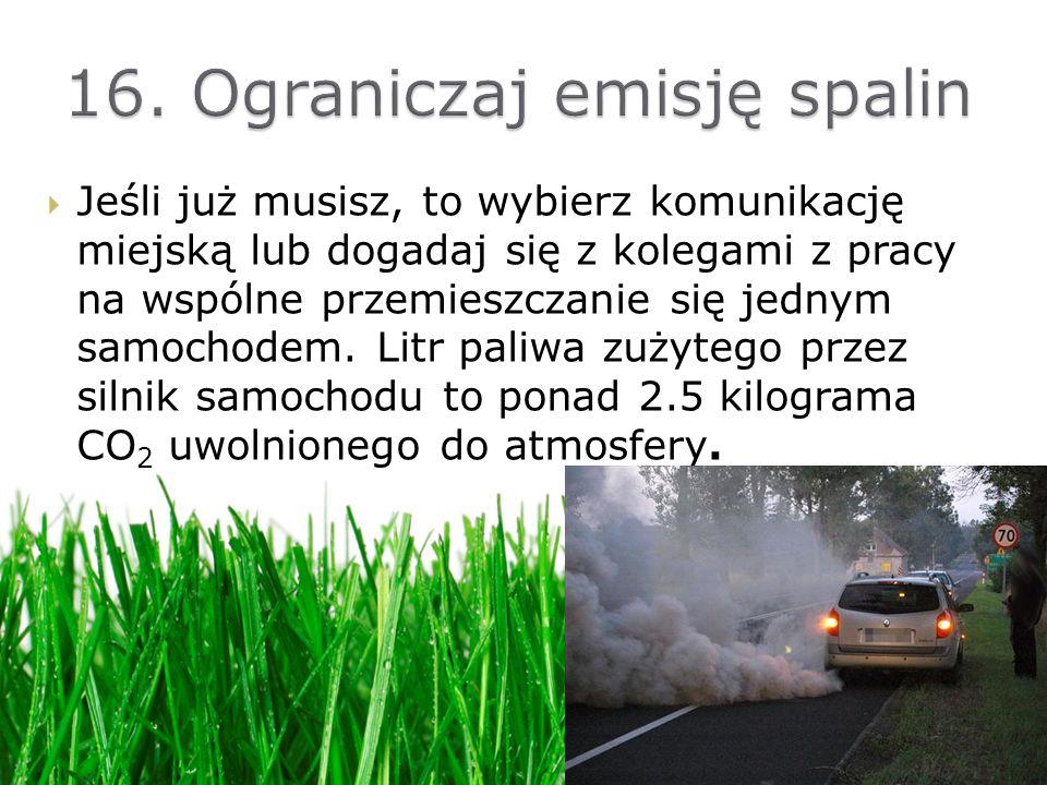 16. Ograniczaj emisję spalin