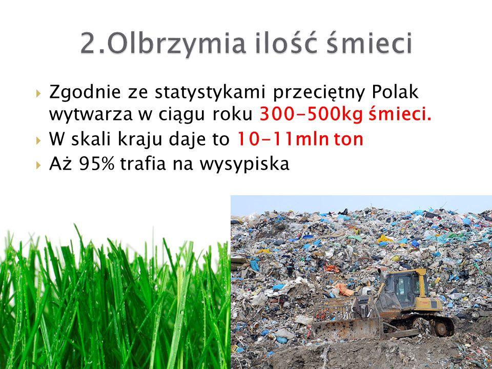 2.Olbrzymia ilość śmieci