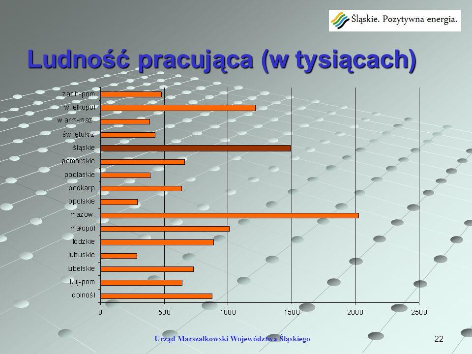 Ludność pracująca (w tysiącach)
