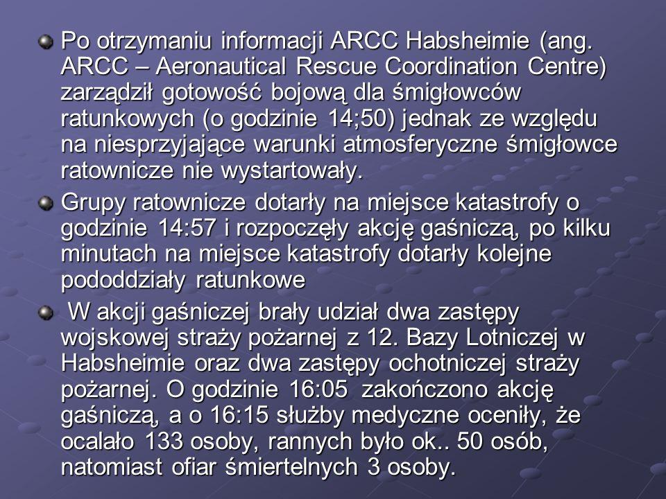 Po otrzymaniu informacji ARCC Habsheimie (ang