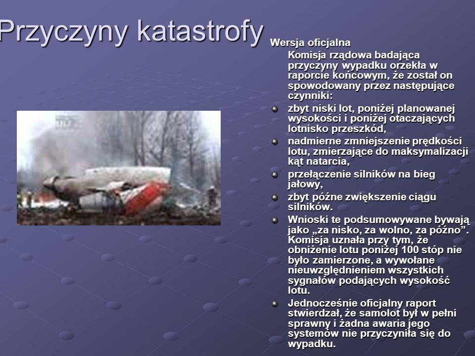 Przyczyny katastrofy Wersja oficjalna