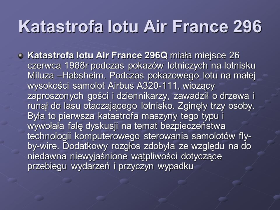 Katastrofa lotu Air France 296
