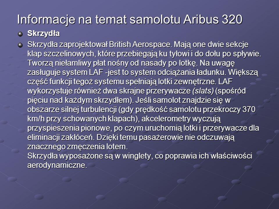 Informacje na temat samolotu Aribus 320