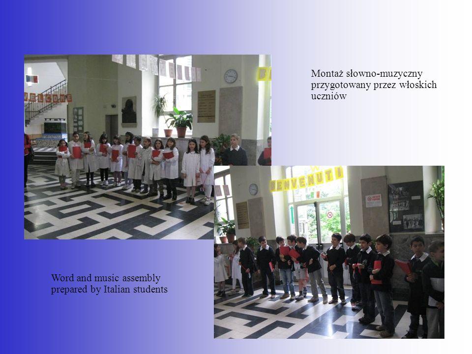 Montaż słowno-muzyczny przygotowany przez włoskich uczniów