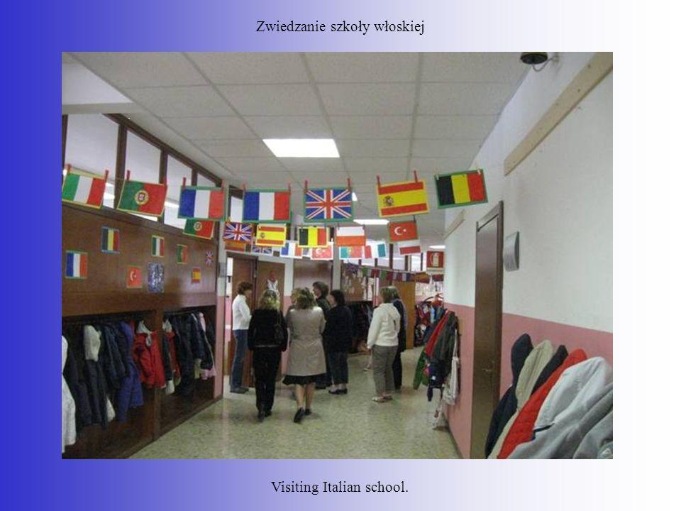 Zwiedzanie szkoły włoskiej