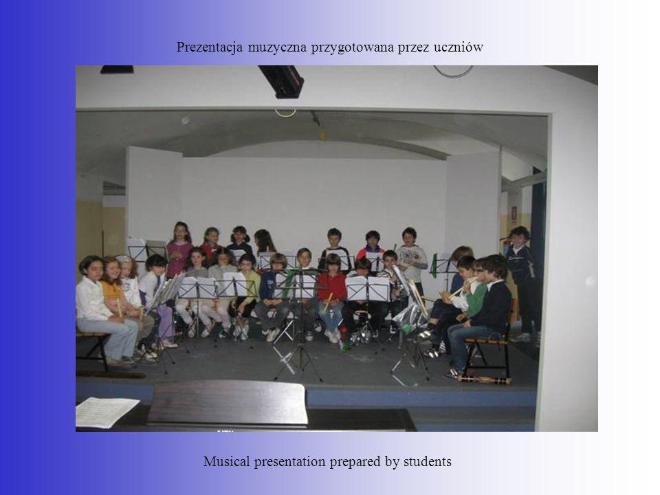 Prezentacja muzyczna przygotowana przez uczniów