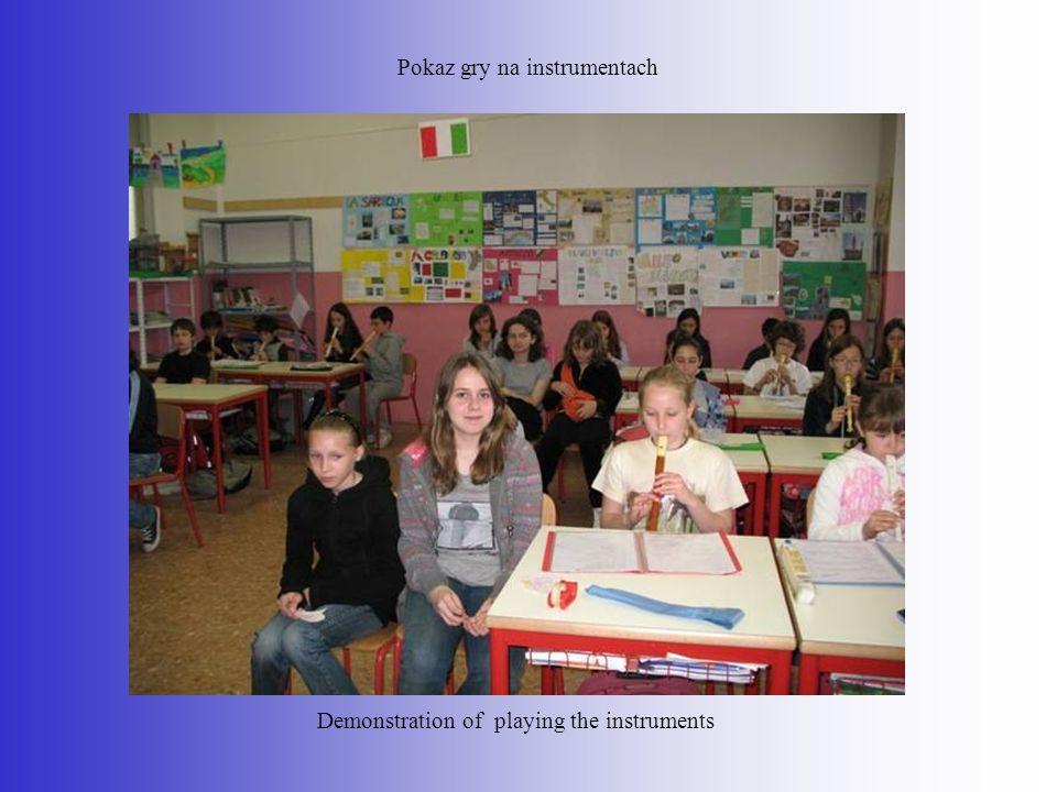 Pokaz gry na instrumentach